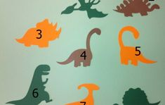 Dinossauro no Elo7 | Brincando com Papel_ (592B7D) Dinosaur Birthday Cakes, Dinosaur Cake, Dinosaur Party, Teaching Colors, Baby Store, Color Themes, Holidays And Events, Projects For Kids, Cool Kids
