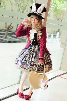 JSK, OTKs, Brooch - Angelic Pretty Jacket - Alice and the Pirates Bag - Milk  The rest is offbrand.