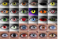 Gothic, Halloween, Crazy, Wild Eyes and Other Special Effect Contact Lenses