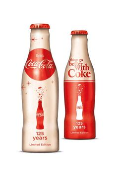 Limited Edition Coca-Cola 125th Anniversary bottles, 2011.