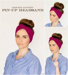 Free-Crochet-Retro-Pin-Up-Headband-Pattern.jpg (720×799)