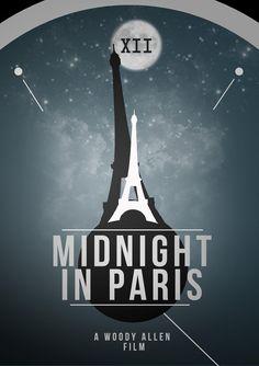 Midnight in Paris - minimal movie poster