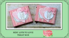Bag Boxes Trend - Mini Lots to Love Treat Box Using the StampinUp Sure Do Love You Bundle! the bag-boxes have been stalking us for longer and with more insistence of what we think, so it's not crazy to say that 2018 will finally be your moment. Valentine Pizza, Valentine Treats, Valentines For Kids, Valentine Day Cards, Treat Box, Treat Holder, Fancy Fold Cards, Valentine Decorations, Love Gifts