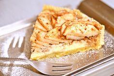 Almás-mascarponés-diós pite recept