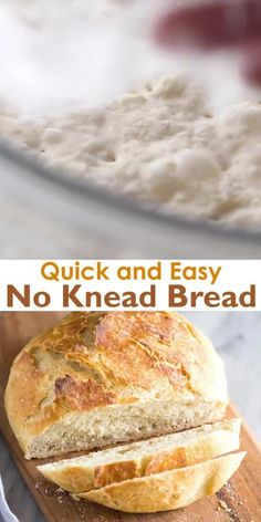 This quick and easy No Knead Bread has a crisp artisan crust and is extra soft and tender inside. It only requires four ingredients and couldn't be easier to make. Artisan Bread Recipes, Dutch Oven Recipes, Easy Bread Recipes, Baking Recipes, Irish Recipes, What Is Artisan Bread, Easy Homemade Bread, Homemade Sandwich Bread, Italian Bread Recipes