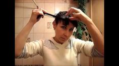 How quickly and beautifully cut bangs yourself at home? LOOK!))