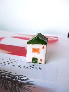 Winter Ceramic House   Little clay house by VitezArtGlassDesign