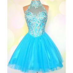 Backless Short Prom dress L49