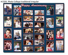 1-100 Year Anniversary Photo Collage