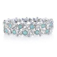 The Collection Green crystal cluster bracelet   Debenhams