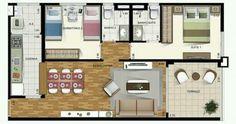 Pinterest: @claudiagabg   Apartamento 2 cuartos