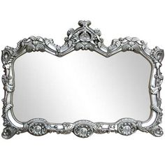 Silver Ormolu Over Mantle Mirror | Dunelm