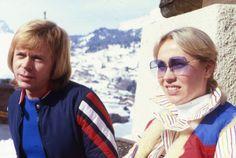 Björn Ulvaeus and Agnetha Fältskog in Leysin 1979,