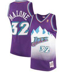 54ce2bc77 Men s Utah Jazz Karl Malone Mitchell   Ness Purple 1996-97 Hardwood Classics  Swingman Jersey