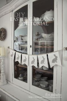 bardoczeva: Húsvéti girland (+tutorial) easter garland tutorial Easter Garland, Easter Celebration, Easter Party, Shabby Chic, Pure Products, Peter Cottontail, Easter Ideas, Spring Time, Banners