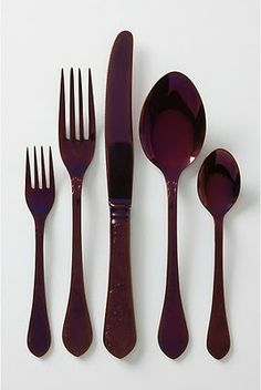 wine colored flatware