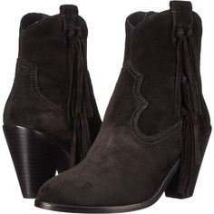 ASH Isha Women's Zip Boots, Black ($138) ❤ liked on Polyvore featuring shoes, boots, black, side zipper boots, fringe boots, platform boots, leather sole boots and black platform shoes