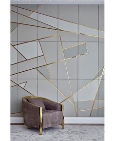 - Armchair - ▷ 1001 + breathtaking accent wall ideas for living room grey and gold geometrical tiles, grey velvet armchair, dining room pictures for walls. Brick Accent Walls, Accent Walls In Living Room, Living Room Grey, Living Room Decor, Dining Room, Tiled Wall Living Room, Room Wall Tiles, Tile Accent Wall, Wall Tiles Design