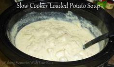 Slow Cooker Loaded Potato Soup (Crock Pot)