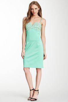 Ruffle Lace Trim Sleeveless Dress by MSA Haute Couture Inc. on @HauteLook