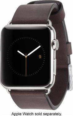 850cedf0a609 Best Buy  CaseMate Signature Smartwatch Band for Apple Watch™ 42mm Tobacco  CM032795