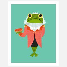 Frog Footman Print by Alison Oliver, from BabyLit's Alice In Wonderland