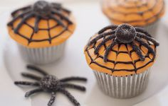 Spider Web Cupcakes are a fun dessert for adults. Create a delicious Halloween dessert with this easy recipe from Simply Create.