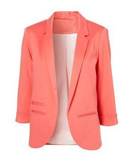 pink blazer, love this!