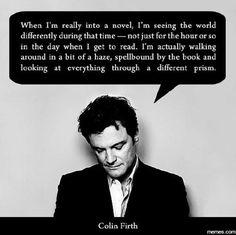 You gotta love Colin Firth.