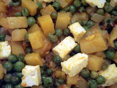 Matar Paneer glutenfrei, ohne Weizen, Ohne Soja, ohne Ei