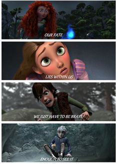 Our fate lies within us we just have to be brave enough to see it. The pep talk Merida would tell her friends before what may be their last battle. Funny Disney Memes, Disney Jokes, Disney Films, Disney And Dreamworks, Disney Art, Disney Pixar, Sad Disney, Disney Characters, Disney Hogwarts