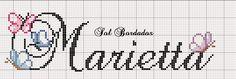 Artes e bordados da Sol: Nomes que fiz com a Letra M