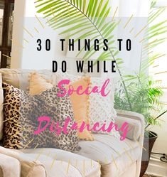 While everyone is stuck home staying quarantined, here are 30 things to do while social distancing. I thought it would be a good month to get stuff done that you may have been putting off or just haven't thought of doing. Here is a fun list I created of things to do while the world is on lockdown. It can be as simple or as complicated as you need it to be.   #goals #list