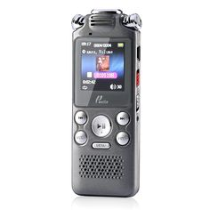 Poniie 8GB Portable Digital Audio Voice Recorder & MP3 Music Player with Built-in Loudspeaker (Rechargeable, Grey)
