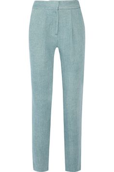 This season, Adam Lippes seamlessly merges the sharpness of East Coast style with the effortlessness of the West Coast. These tapered pants are tailored from soft cotton-twill and are shaped by front pleats. They're a comfortable yet stylish pick for the office or weekend. Get the look at NET-A-PORTER