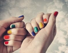 Multi colored nails