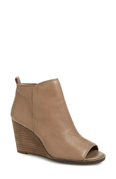 Lucky+Brand+'Jagurr'+Open+Toe+Wedge+Bootie+(Women)+available+at+#Nordstrom