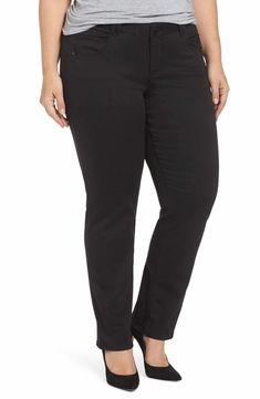 fff5791dc2ba5  105.12 Democracy Ab-Solution Stretch Straight Leg Jeans (Plus Size) Plus  Size Work