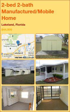 2-bed 2-bath Manufactured/Mobile Home in Lakeland, Florida ►$44,900 #PropertyForSale #RealEstate #Florida http://florida-magic.com/properties/7333-manufactured-mobile-home-for-sale-in-lakeland-florida-with-2-bedroom-2-bathroom