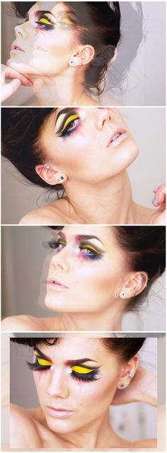 MAKE UP STORE this makeup is stunning I love the crisp lines and bold colour