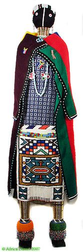 Ndebele Beaded Doll 5 Feet Tall South Africa    $1,150