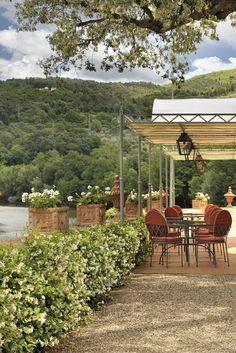 Villa La Massa: Pool Bar Terrasse