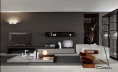 Milan Design Week 2014 Focus on HALL Exclusive Furniture Trends-Porro Living Tv, Home And Living, Living Spaces, Modern Living, Living Rooms, Room Interior Design, Living Room Interior, Furniture Design, Armoire Tv