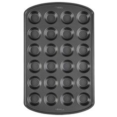 Bake a bunch of mini cupcakes in a jiffy with this Wilton 24 Cup Non-Stick Mini Cupcake Pan! This metal muffin pan has 24 cups and extended lips on the side. Mini Cupcake Pan, Cupcake Pans, Mini Cupcakes, Edible Cookies, Fun Cookies, Brownie Cookies, Mini Muffins, Boutique Patisserie, Yellow Butter Cake