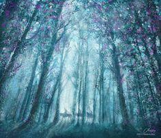 art, illustration, forest