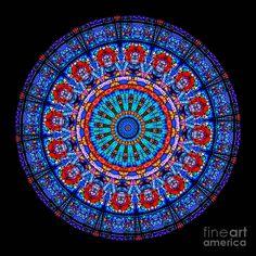 Kaleidoscope Stained Glass Window Series Photograph  - Kaleidoscope Stained Glass Window Series Fine Art Print