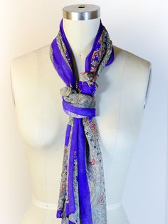 How to Tie a Scarf: The Girly Windsor Great for those skinnier scarves that don't quite work doubled around!