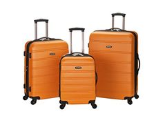 #10: Rockland Luggage Melbourne 3 Piece  Set Orange Medium