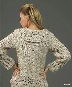 Casaco redondo em crochet
