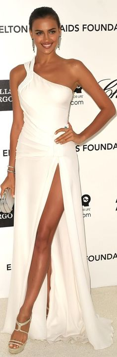 Inspired by Irina Shayk Celebrity Dresses Sexy One Shoulder Sleeveless Side Slit Evening Dresses Vestidos Oscar Dresses, Sexy Dresses, Prom Dresses, Robes Glamour, One Shoulder Prom Dress, Russian Models, Celebrity Dresses, Beautiful Gowns, Beautiful Models